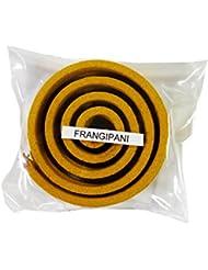 お香/うずまき香 FRANGIPANI フランジパニ 直径5cm×5巻セット [並行輸入品]