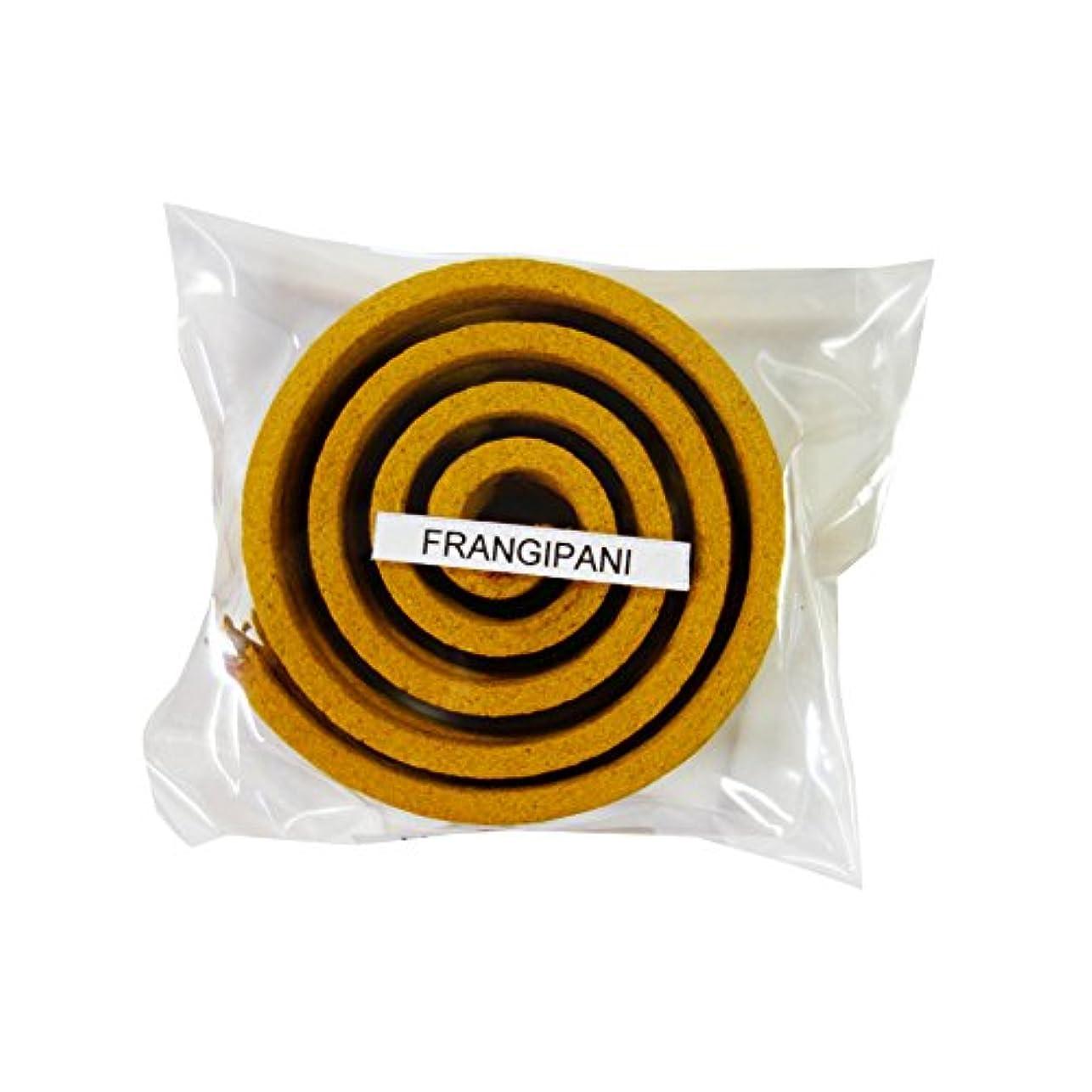 想定する平凡試験お香/うずまき香 FRANGIPANI フランジパニ 直径5cm×5巻セット [並行輸入品]