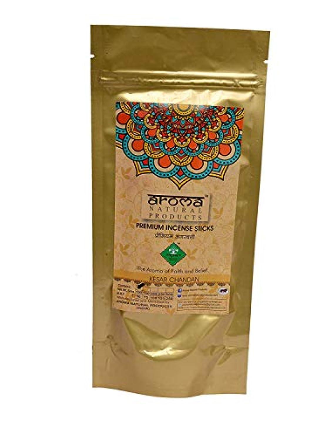 傷つける溶かす不良AROMA NATURAL PRODUCTS Kesar Chandan Incense Stick Agarbatti (100 g)