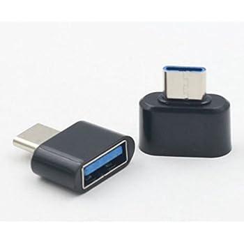 リタプロショップⓇ OTG対応 USB-A to USB Type-C 変換アダプタ ブラック