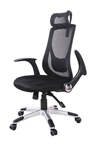 (OSJ)オフィスチェア パソコンチェア 145度 ロッキング固定機能 腰サポートクッション (ブラック)可動肘 静音PUキャスター