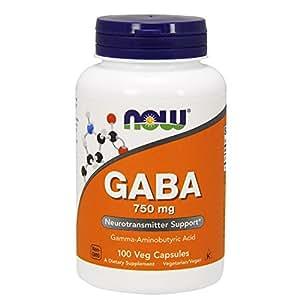 [海外直送品] ナウフーズ ギャバ GABA 750mg(ベジタリアンカプセル)