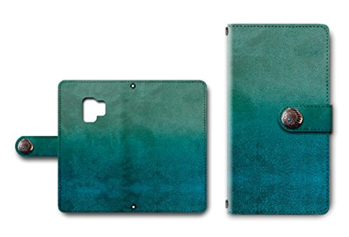 夜証明書ビルGalaxy S9 対応 手帳型 カメラ穴搭載 ダイアリー レザー製 グランジ柄 コンチョ付き スマホケース 【デザインE】 ギャラクシー