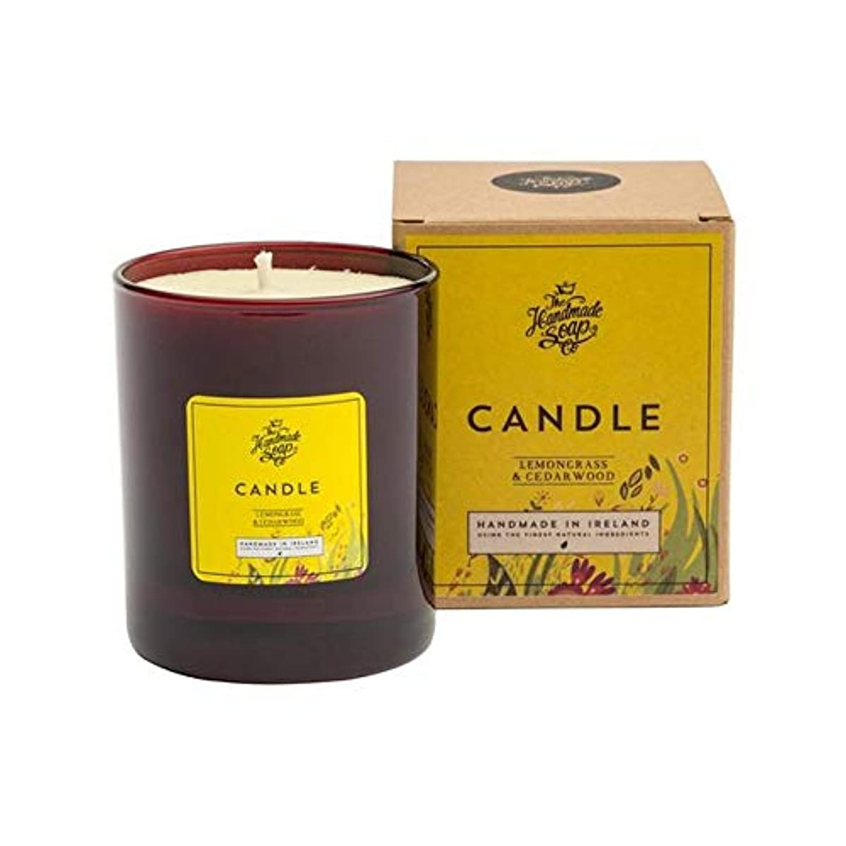 断線恐れるこしょう[The Handmade Soap Company ] 手作り石鹸の共同レモングラス&シダーウッドキャンドル180グラム - The Handmade Soap Co Lemongrass & Cedarwood Candle...