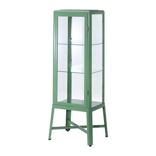 IKEA(イケア) FABRIKoR ガラス扉キャビネット ライトグリーン