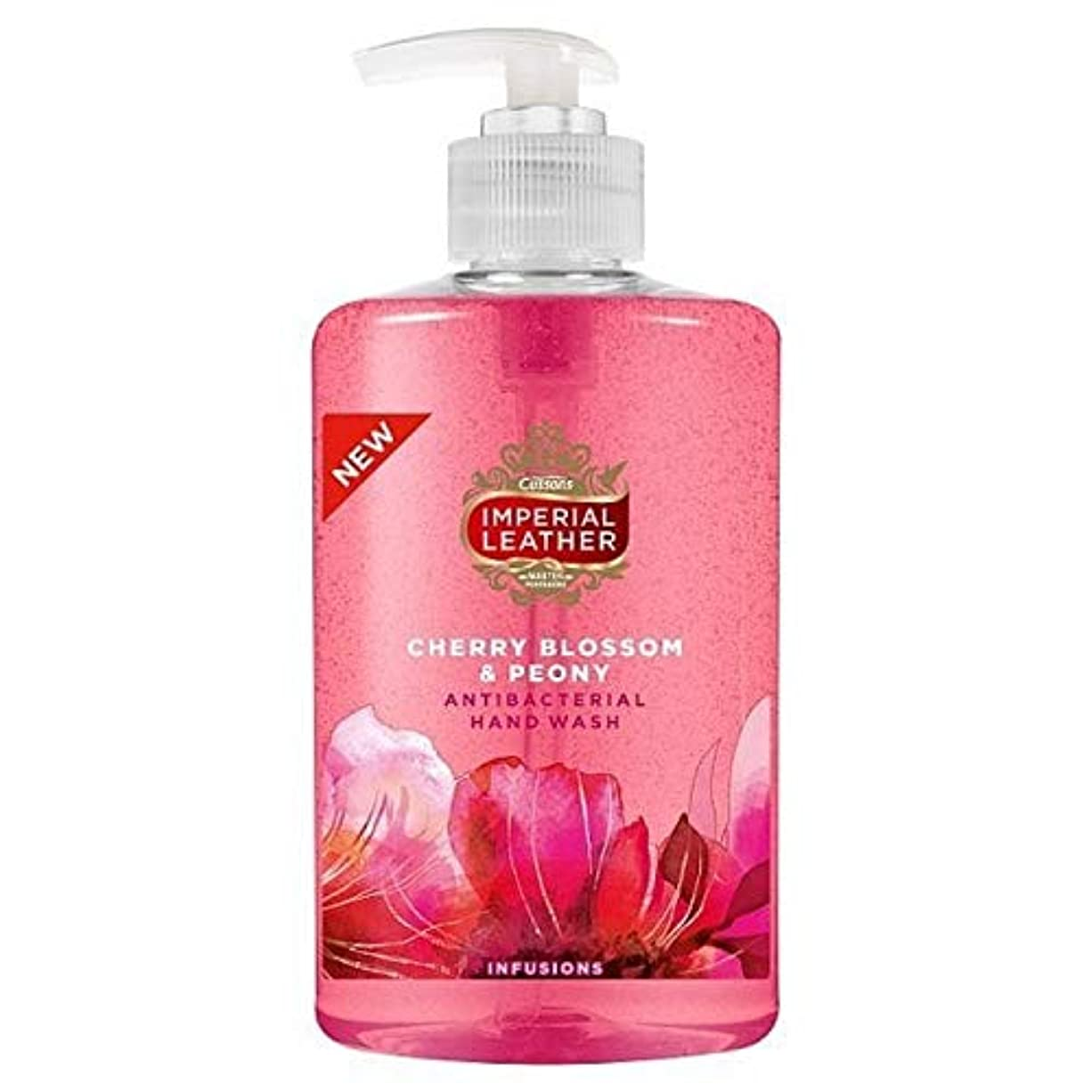 リボン回路飼いならす[Imperial Leather ] 帝国革の桜&牡丹手洗いの300ミリリットル - Imperial Leather Cherry Blossom & Peony Handwash 300ml [並行輸入品]