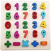 LALANG キッズ アルファベット学習 英語子供 木製パズル 早期教育 啓発 おもちゃ 0-9 digits LALANG