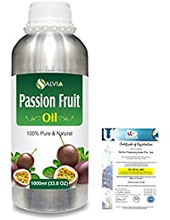 Passion Fruit (Maracuja) Natural Pure Undiluted Uncut Carrier Oil 1000ml/33.8 fl.oz.