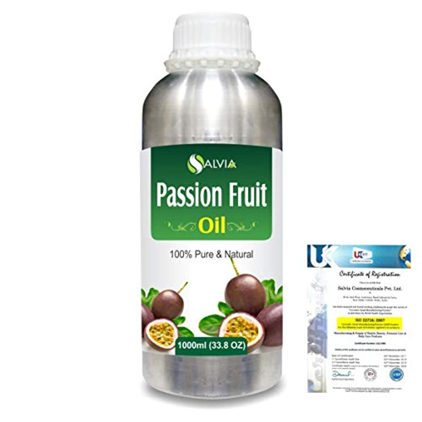 抱擁体細胞他の場所Passion Fruit (Maracuja) Natural Pure Undiluted Uncut Carrier Oil 1000ml/33.8 fl.oz.