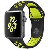 ナイキ スポーツ Apple Watch Nike+ 38mm スペースグレイアルミニウムケースとブラック/ボルトNikeスポーツバンド