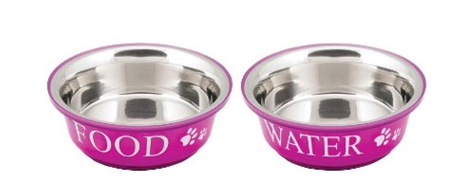Food & Water Set Medium 1qt-Fuchsia (並行輸入品)