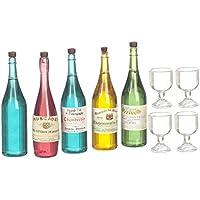 ドールハウスミニチュア1 : 12ワイン&シャンパンボトルW / Glasses