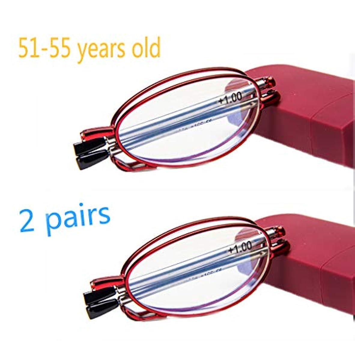 ほこりっぽい免除する鉛HD樹脂アンチブルー老眼鏡、コンパクト老眼鏡。ブロック380-450MM有害な青色光、格納式アーム、金属フレーム、水滴鼻パッド。 (赤、黒)