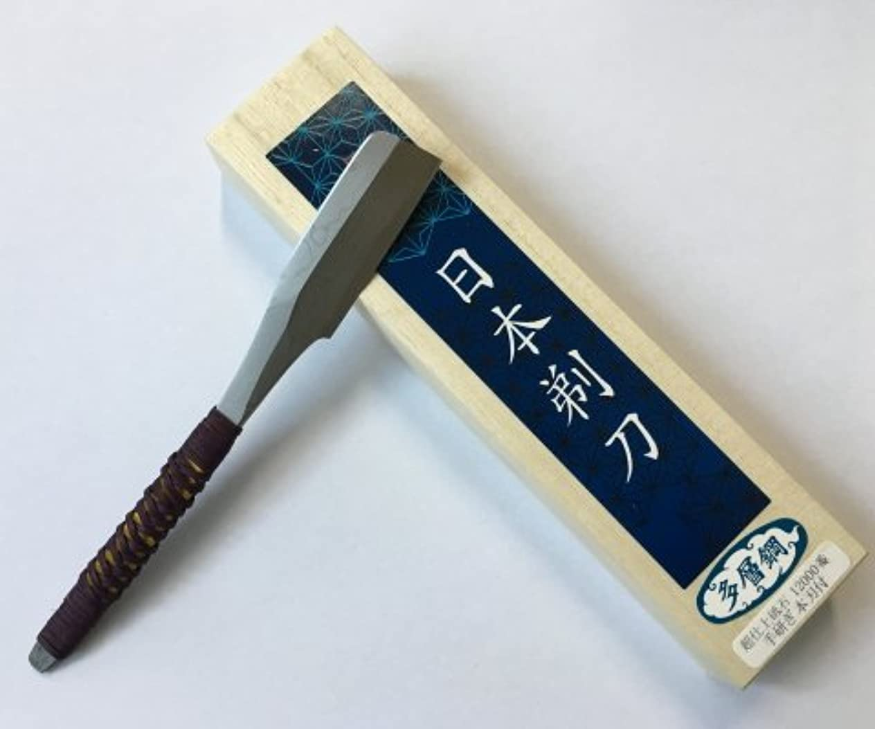 淡い製造手紙を書く兼吉作 日本剃刀(ニホン カミソリ)多層鋼 藤巻 桐箱入り 【手造り】