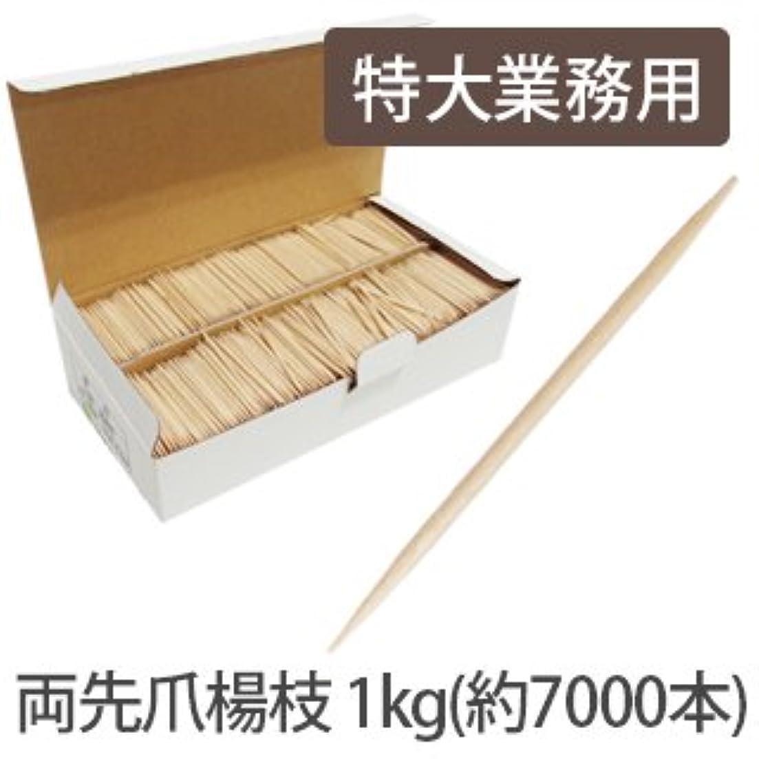 大統領木製滑り台美容専門 両先爪楊枝 約7000本 1Kg入 特大業務用