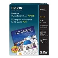 Epson America Inc.製品 - プレゼンテーション用紙、マット、45ポンド、8-1/2インチx11インチ、50/パック、WE - 3枚パックで販売 - インクジェット用紙はラボ品質の写真を生成するために特別にコーティングされています。 厚手で高品質、本物のエプソン紙(3パック)。