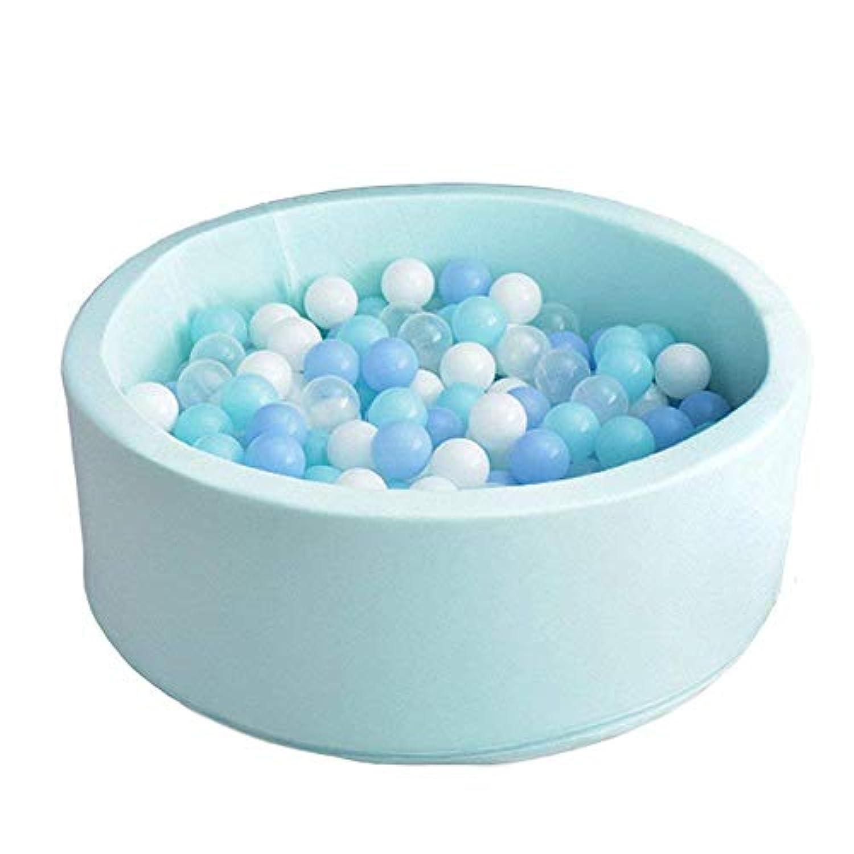 デラックスハンドメイド子供用Foamラウンドボールpit|品質と耐久性プレミアムDrypool with非毒性セーフマテリアル、Sofe & Thick、理想的なLittle Tots Babies Above 1年間(ライトブルー)