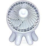 オクトパスファン 卓上扇風機 かわいいタコ型 ブルーグレー