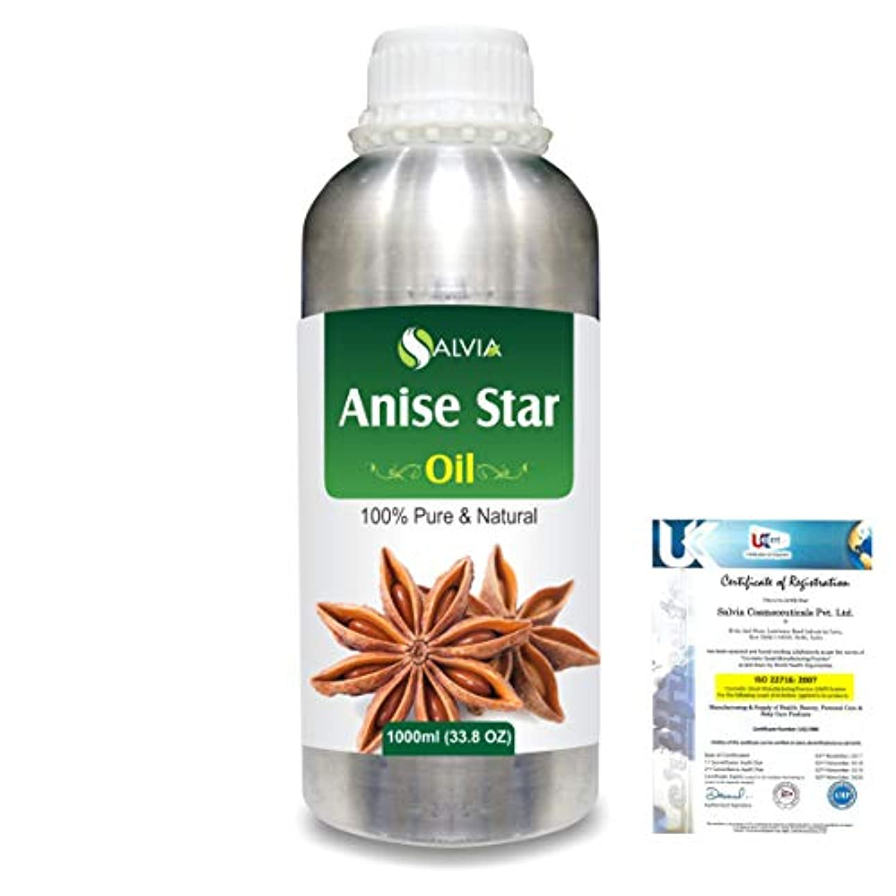 告発故意のタブレットAnise Star (Illicium Verum) 100% Natural Pure Essential Oil 1000ml/33.8fl.oz.