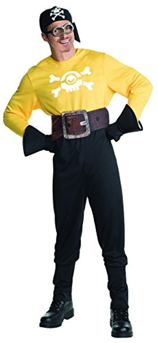 ブレークペルー変成器Minions Movie: Pirate Minion Adult Costume 手下映画:海賊ミニオン大人の衣装は