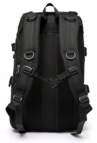 旅行 バックパック,Vaschy 大容量 リュック スクエア 登山 多機能 アウトドア 通勤 出張 ビジネス メンズ ブラック