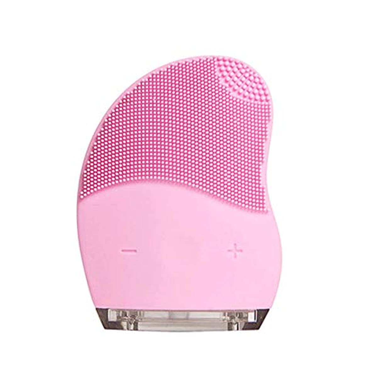 HEHUIHUI- クレンジングブラシ、ディープクレンジングフェイシャル、防水性と振動性のクレンジングブラシ、アンチエイジング、優しい角質除去とマッサージ(ピンク) (Style : A)