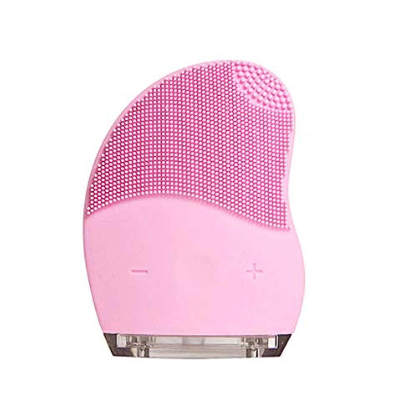 コメンテーターバッジ一瞬HEHUIHUI- クレンジングブラシ、ディープクレンジングフェイシャル、防水性と振動性のクレンジングブラシ、アンチエイジング、優しい角質除去とマッサージ(ピンク) (Style : A)
