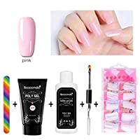 Professional Nail Art Set PolyNail Gel French Nail Constraction Builder Jelly Poly Gel Brush Acrylic Slip Remover Liquid