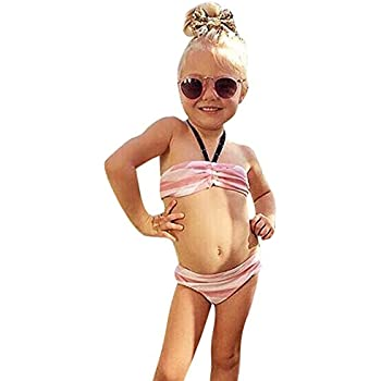 48bcd37e413a2 Domybestキッズ 水着 女の子セパレート 上下セット ビキニ タンキニ ベビー スイムウェア 女児 ガールズ ミズギ スイミング
