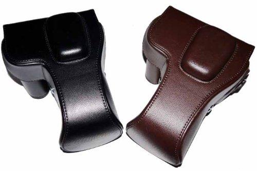 Nikon D5100 D5200 D5300 一眼レフデジタルカメラ用 合成革ケース 2色「510-0046-0」 (ブラック)