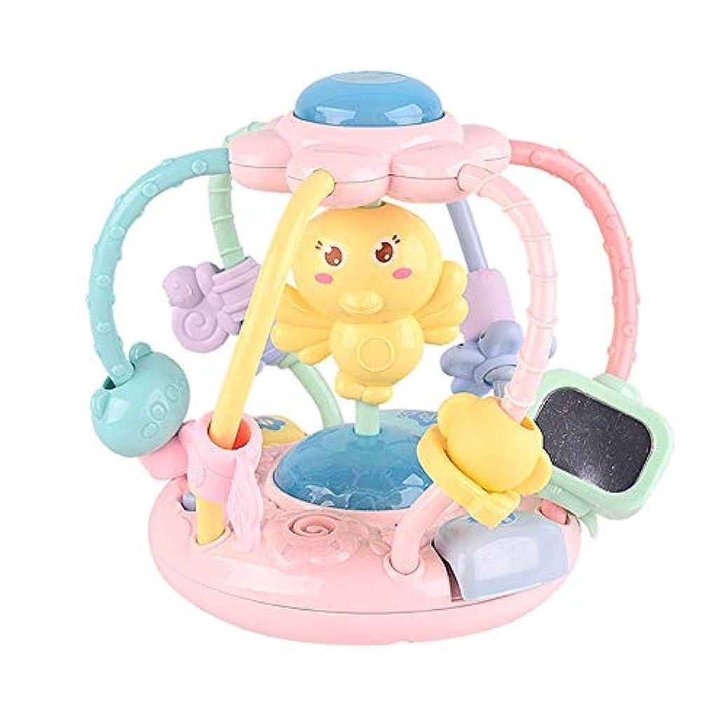 国歌最大化する空グリップ、トス、バウンス、ローリングは、素ベビーボール 早期教育6ヶ月の赤ちゃんのおもちゃの活動ガラガラボールのおもちゃ赤ちゃんのハンドグリップボール新生児一口ソフトラトル ベビーボール感覚 (色 : Pink, Size : One size)