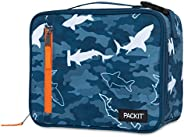 PackIt PKT-CB-CAS Freezable Classic Lunch Box Bag, Camo Sharks
