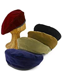 ノーブランド品 ベルベットFレザーパイピングベレー レディース帽子