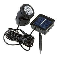 ソーラーライト4LED ガーデンライト 防水 電池不要 夜間自動点灯 屋外の歩道/車道/芝生/庭などの照明用 (ホワイト)