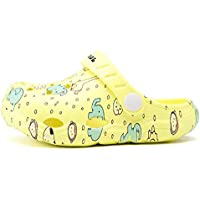 Elonglin Kids Clogs Lightweight Sandals Sliders Water Shoes Non Slip Girls Boys Toddlers Beach Pool Shower Slippers Casual Mules Garden Shoes Yellow 29