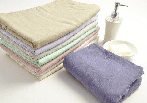 Fabric + ガーゼ湯上りバスタオル アッシュ・グレー 《 MADE IN JAPAN 安心・安全の日本製です!!・両面ガーゼ 湯上りガーゼ》 【 メール便でお届けです。 】