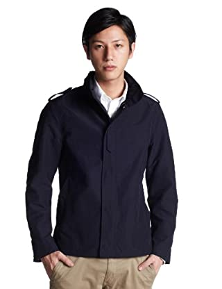 60/40 Cloth Stand Collar Blouson 3225-116-1287: Navy