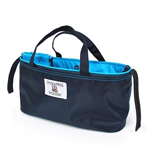 ハガビー(Huggabee) ベビーカー バッグ ネイビー×ブルー 4way オーガナイザー マザーズバッグ