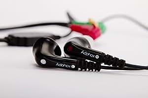 高音質バイノーラルマイク Adphox BME-200 フィールドレコーディング 生録 立体音響録音用 イヤホン付き