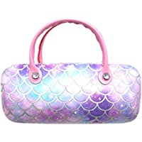 Sequin Colorful Eyeglass Case Makeup Storage Bag Portable Sunglasses Pouch with Handle