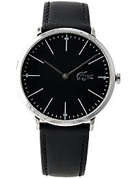 [ラコステ]LACOSTE メンズ シルバー ブラック レザー 2010873 腕時計 [並行輸入品]