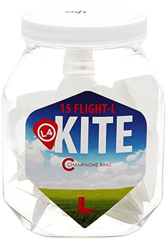 L4c Kite Flight-L Soft Chamapange Dart Flights - White [並行輸入品]