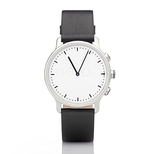 Nevo Smartwatch for - Retail Packaging - Silver Case Black Strap [並行輸入品]