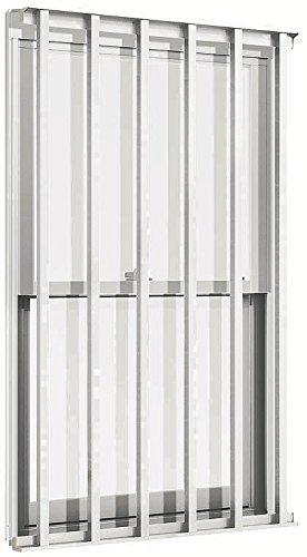 TOSTEM アルミサッシ デュオPG 装飾窓 縦面格子付上げ下げ窓SH サッシ寸法W640*H770 06007
