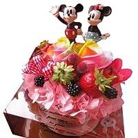 結婚祝い ディズニー フラワーギフト レインボーローズ プリザーブドフラワー ケーキ 誕生日プレゼント ノーマル ミッキー&ミニー ケーキ プリザーブドフ.