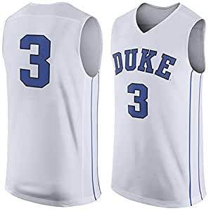 NCAAメンズ# 3ホワイトDukeブルーDevils Basketball College Jersey M