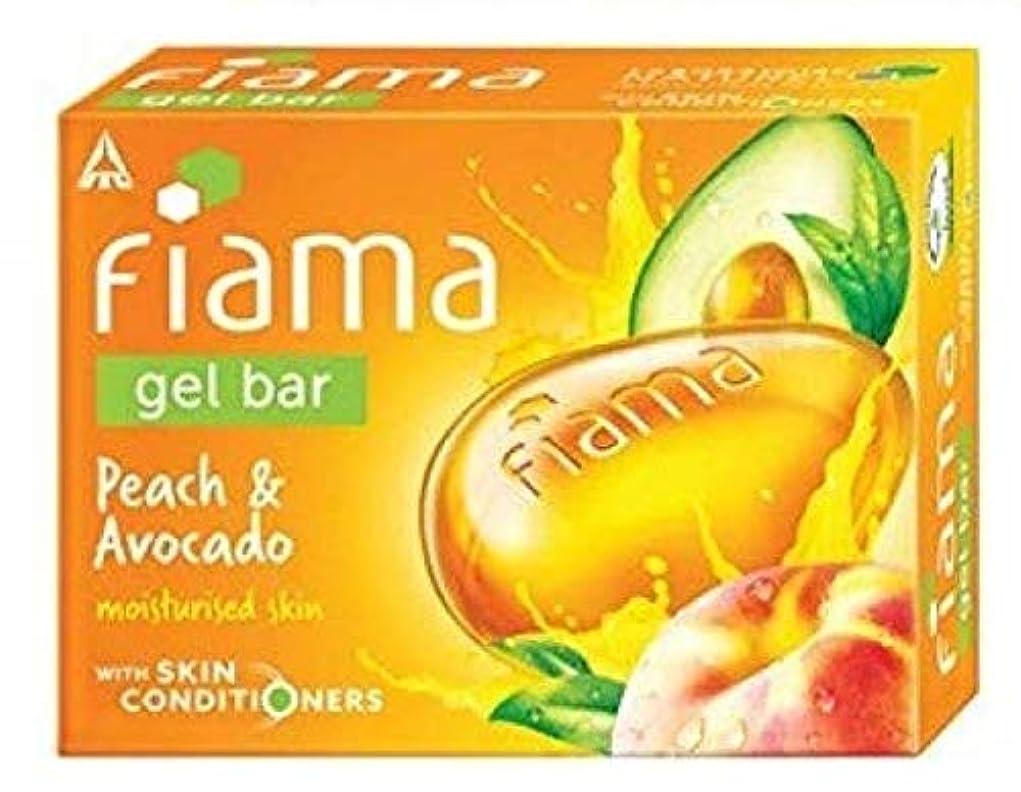 外部息苦しいしないFiama Gel Bathing Bar, Peach and Avocado, (3 * 125g)