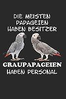 Die Meisten Papageien haben Besitzer Graupapageien haben Personal: Notizbuch A5 Kariert Lustig Geschenk mit Papagei Graupapagei Sittich Vogel Haustier