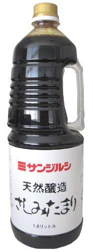 サンジルシ 天然醸造 さしみたまり 手付パック 1.8L