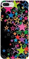 液晶全面保護 3Dガラスフィルム付 カラー:黒 iPhone 8 Plus アイフォン8 プラス iphone 8 plus TPU ソフトケース きらきら星(ブラック)